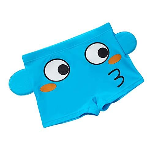 Toygogo Kinder Badehose Schwimmhose Badeshorts Schnelltrocknende Badebekleidung für Jungen - Dunkelblauer Fisch, L