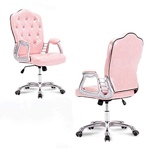 Silla de oficina ergonómica de cuero PU, escritorio y silla giratorios para computadora, silla de oficina administrativa, silla cómoda con función de columpio para oficina en casa, adecuada para adult