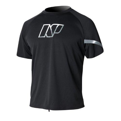 NP Surf Loose Fit Agua de Manga Corta Camiseta, Negro