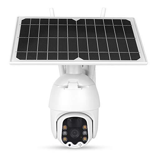Cámara 1080P Cámara WiFi con Panel Solar de 8 W Detección de Movimiento PIR Cámara de inclinación panorámica Visión Nocturna al Aire Libre IP66 Impermeable