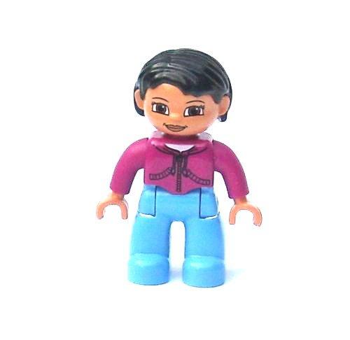 LEGO DUPLO - Frau Fräulein mit pink Pullover und hellblauer Hose