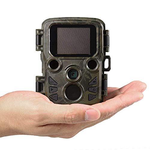 B&H-ERX Wildlife Camera, Mini Trail Wildlife Camera Infrared Night Vision, Game Hunting Camera 12MP 1080,2.0 Zoll LCD Screen,IP66 Waterproof Trail Camera (Upgrade)