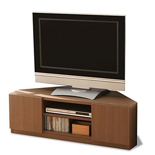 アイリスプラザテレビ台ローボード収納コーナー幅110×奥行48×高さ36cmブラウンキャスター付97420