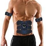 ZJchao EMS Muscle Trainer Electrónico Abdominal Muscle Patch Brazo Pierna Estimulador de Entrenamiento Muscular Hogar para Hombres Mujeres 6 Modos 9 Niveles de Intensidad