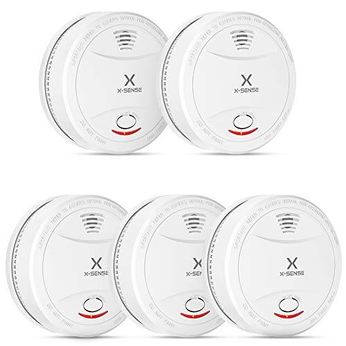 X-Sense Rauchmelder SD12 | TÜV und DIN EN 14604 geprüfter Rauchwarnmelder | Feueralarm, Brandmelder | Verbesserte Ausführung, 5er Set