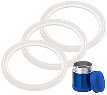 3-Pack of Thermos  TM  Food Jar 10 Ounce FUNtainer  TM  -Compatible Gaskets / O-Rings / Seals by Impresa Products - BPA-/Phthalate-/Latex-Free - Replacement for 10 Ounce Container