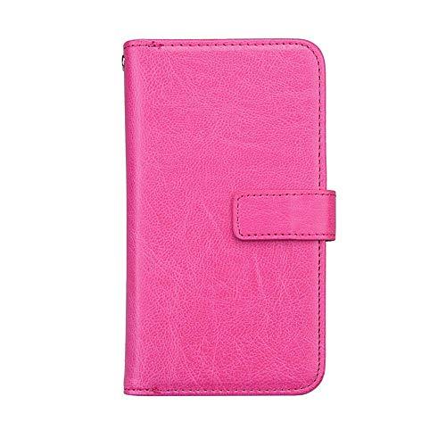 Bear Village® Huawei Nova 2 Hülle, Flip Leder Schutzhülle mit 9 Kartenfach und Magnetverschluss, Brieftasche Handyhülle für Huawei Nova 2, Rose Rot