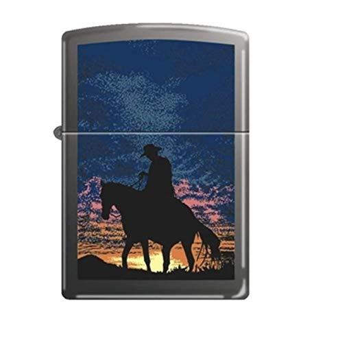Zippo Cowboy Sunset Black Matte Lighter