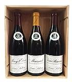 Coffret Prestige Vins de Bourgogne Grandes Appellations - 1 Meursault 2017 + 1 Vosne-Romanée 2016 + 1 Morey Saint-Denis 2015 !