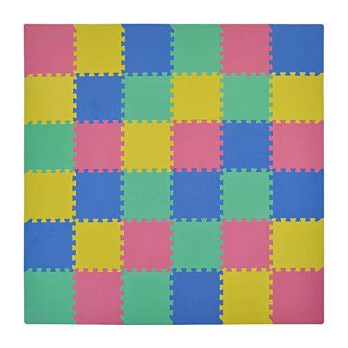 VeloVendo® - Tappeto Puzzle con Certificato CE e Testato TÜV Rheinland in soffice Schiuma Eva | Tappeto da Gioco per Bambini | Tappetino Puzzle (Multi Colore)