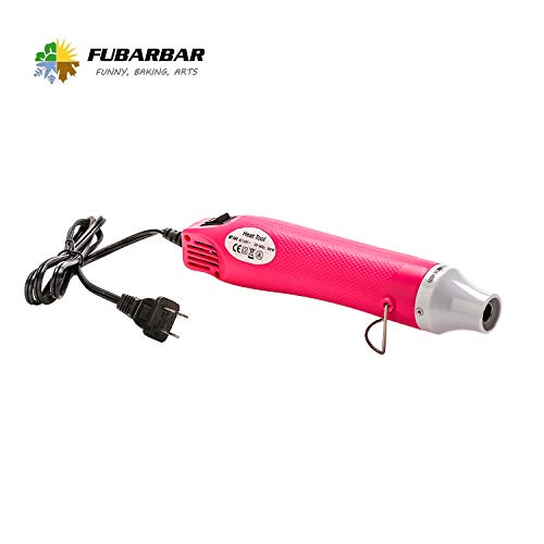Paint Heat Gun for Craft Epoxy Blower Hot Air Heater for Embossing Stamps PVC Resin 300 EVA Tubing Pen Shrink Tubing Heatcraft Heady Blow Wax Emboss Hotmelt Foam Wrap Tool for Phone Cellphone (Pink)