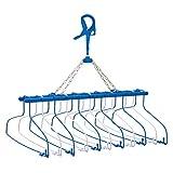 ニシダ 洗濯 物干し スキップ ハンガー11連式 プレミアム ダークブルー 54×49×40cm シャツ類を一度に11枚干せる 多連ハンガー 217338
