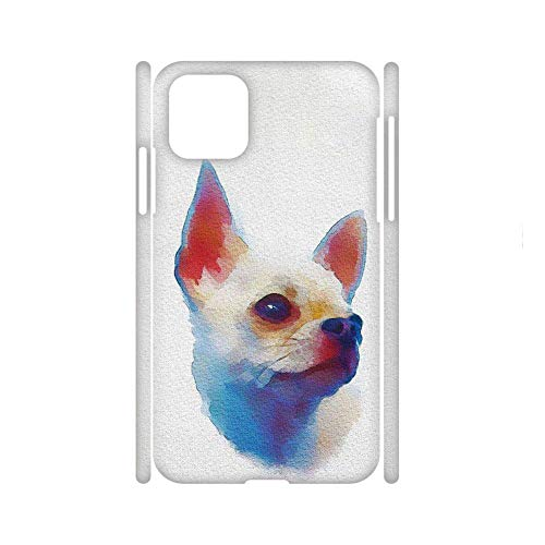 Safeguard Phone Shell Hard Plastic For Guy Compatible with iPhone 11 Printing Chihuahua 6 Choose Design 145-5