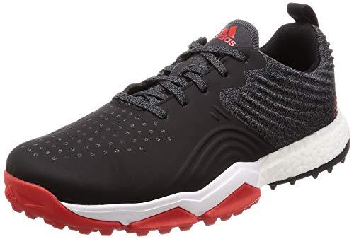 adidas Herren Adipower 4orged S Golfschuhe, Weiß (Negro/Blanco/Rojo B37175), 43 1/3 EU