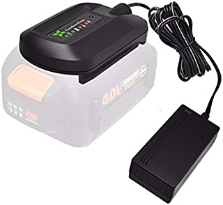 Garden NINJA 40v Lithium Ion Battery Charger for Worx WA3580 battery (Charger Only)