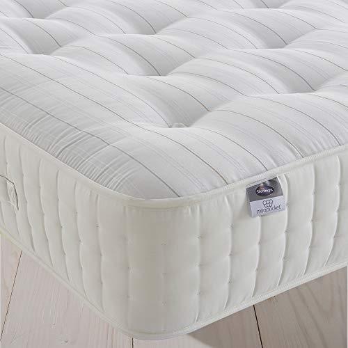 Silentnight 2000 Pocket Natural Wool Mattress | Tailored Comfort & Pressure Relief | Medium| Double