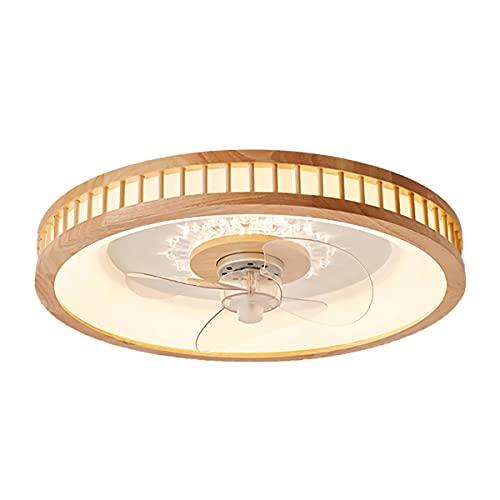 Ventilatore Soffitto Led Telecomando Ventilatore Da Soffitto Con Luce in Legno Lampadario Ventilatore Moderno Plafoniera Con Ventilatore Integrato Dimmerabile 3 Velocita Lampada Da Soffitto Legno