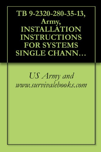 TB 9-2320-280-35-13, Army, INSTALLATION INSTRUCTIONS FOR SYSTEMS SINGLE CHANNEL GROUND AND AIRBORNE RADIO SYSTEM (SINCGARS) AN/VRC-88F, AN/VRC-89F, AN/VRC-90F, ... M998, (2320-01-107-7155), (EIC: BBD); M