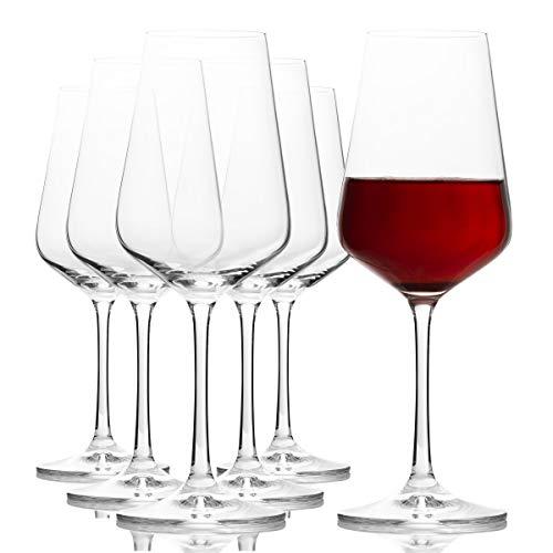 Bohemia Cristal Sandra - Copa de vino (6 unidades, en caja de regalo), capacidad de 350 mililitro, talla única
