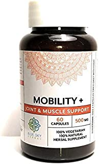 Blue Sky Herbal Joint & Muscle Support - Herbal Supp-60 Caps-Joint Pain Relief. Men and Women improve mobility in knee joint & Reduce Inflammation!Avoid side effects of MSM. No side effects here
