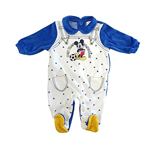 dierre tutina neonato in ciniglia DISNEY mickey ellepi art. WQ3031 (6 mesi, bianco)