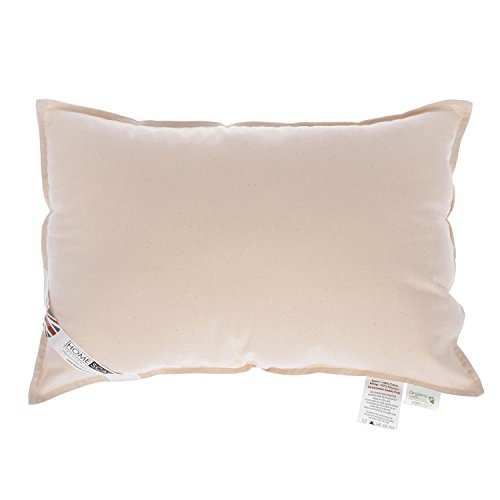 """HOMESCAPES Organic Cotton Cushion Pad 35 x 50 cm (14"""" x 20"""") Inner Insert with Super Microfibre Hypoallergenic Synthetic Filling Machine Washable"""