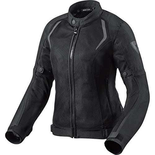 REV'IT! Motorradjacke mit Protektoren Motorrad Jacke Torque Damen Textiljacke schwarz 44, Sportler, Ganzjährig, Polyester
