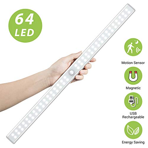 64 LED Closet Light, OxyLED Rechargeable Motion Sensor Closet Light Wireless LED Under Cabinet Closet Lighting for Cabinet, Closet, Cabinet, Wardrobe, Kitchen, Hallway