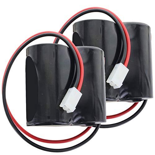 AkkuShop-Artikel 2 Stück Ersatzbatterie passend für ABUS FU2986, FU8220, FU8222, Secvest kompatibel für 2WAY-Funk-Außensirene (bitte Polung beachten)