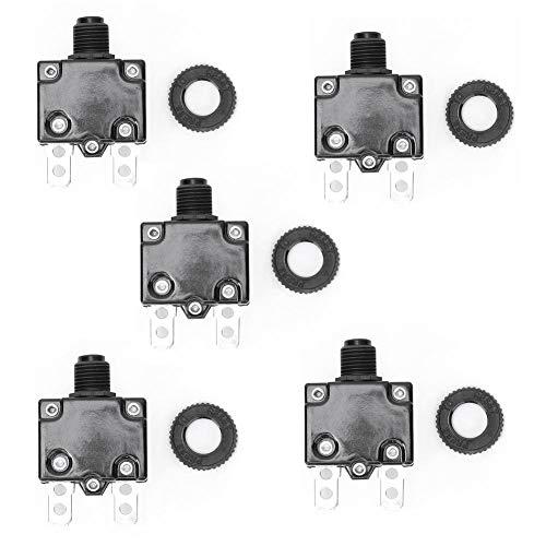 Praktischer Luftkompressor-Schutzschalter, Hochwertiger Luftkompressor-Leistungsschalter, 5 Stück Stabil für Luftkompressor-Überlast-Überstromschutz(12A)