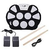 YJZO Roll Up Drum Kit -9 Pads Baterías electrónicas portátiles Drums Pad de práctica para niños Principiantes