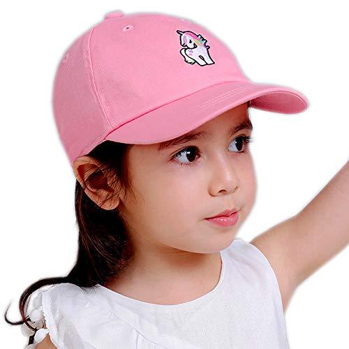 Julylee Kids Girls Unicorn Baseball Cap Adjustable Pink Sun Hat (Unicorn)
