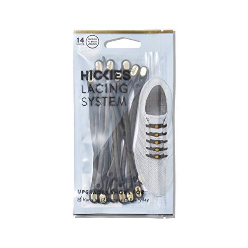 HICKIES Elastische Tie-Free Schuhbänder (2.0 Neu) - Schwarz/Gold