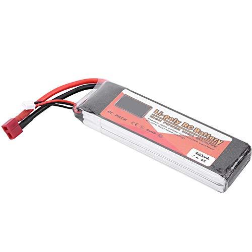 keenso Batería RC LiPo, 2S 7.4V 2200mAh 5000mAh 3500mAh 5500mAh 4500mAh Batería con T-Plug Batería Recargable de LiPo(4500mAh 60C)