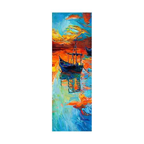 Pegatinas de nevera para cubrir puertas completas, pintura al óleo clásica 3D, autoadhesiva, adhesivo para puerta de refrigerador, papel pintado de vinilo profesional, 50 x 180 cm (2 unidades)