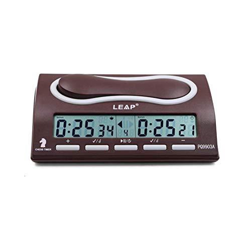WANGW Temporizador De Reloj De Ajedrez, Digital Cuenta hasta Down Reloj De Ajedrez Mecánico De Madera, ABS Temporizador Ajedrez Analogico De Juego Maestro Portátil Y Profesional, 6 Modos