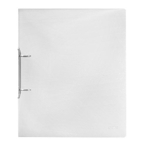 Herlitz 10722627 Ringbuch A4 PP transluzent, 2-Bügel, 3 cm Rücken, 19 mm Füllhöhe, farblos