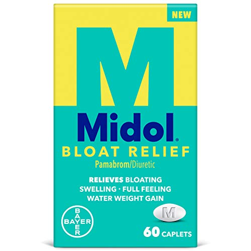 Midol Bloat Relief, Bloating Relief Caplets with Pamabrom, 60 Count