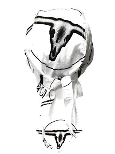 armardi b Bandana casquette Noir Blanc
