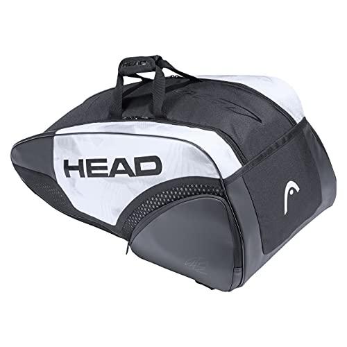 Head Djokovic 9r Supercombi Bolsa de Tenis, Unisex Adulto, Blanco/Negro, 77 x 35 x 39