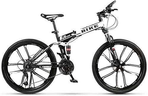 -Foldable Montaña 24/26 Pulgadas, MTB de la Bicicleta con 10 Cortador de...