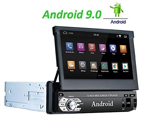 LEXXSON Android 9.0 1 DIN Autoradio Navigation 7 Zoll Touch Screen GPS Bluetooth Auto Stereo Unterstützt AM FM RDS WiFi Freisprecheinrichtung