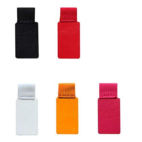 Bolígrafo Autoadhesivo,6 Pack Negro Forma Rectangular Portalápices Autoadhesivo Soporte Para Bolígrafos en Cuero Clips Lápiz Elástico para Libros