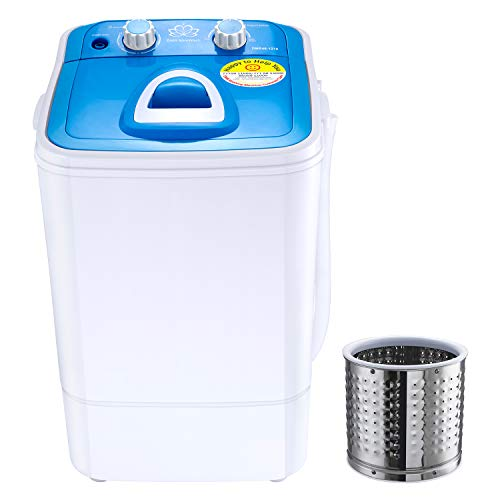 DMR 4.6 kg Inverter Single Tub Portable Semi Automatic Top-Loading Mini Washing Machine with Steel Dryer Basket (DMR 46-1218 (W2Yr), Blue)
