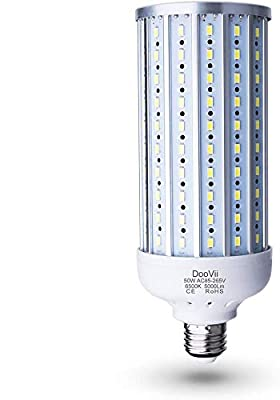DooVii 50 Watt(350 Watt Equivalent) LED Corn Bulb,5000 Lumen 6500K,Cool Daylight White LED Street Area Light,E26/E27 Medium Base,for Outdoor Garage Warehouse High Bay Barn Backyard,Super Bright