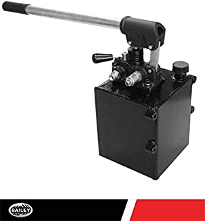 CHIEF Double-Acting Hand Operated Hydraulic Pump with Handle: 1.3 Gallon Reservoir, 3625 PSI, 18 Lbs, 3/8