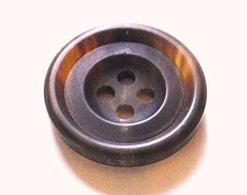本水牛ボタン ��530 シックな艶消しの貴重な茶色 23mm