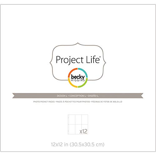 Becky Higgins 380155 Project Life Photo Pocket Page Protector-12 x Design L (12 Piece), Multi-Colour Photo #3