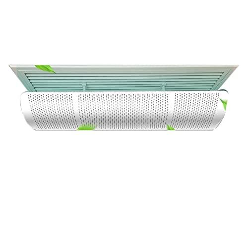 Deflettore aria condizionata, prese d'aria deflettore aria di sicurezza, fori per l'aria sono bianchi, per appendere alla parete laterale o al soffitto della casa/ufficio