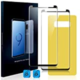 Homy Compatible UHD Screen Protector for Samsung Galaxy NOTE 8 [2-Pack] - Free Back Cover & Camera Lens Cover. Made of Full 3D Curved 9H Japanese Tempered Glass.